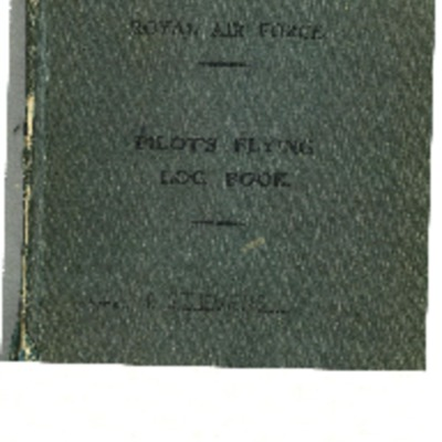 Peter Stevens' pilot's flying log book